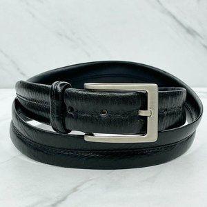 Black Soft Full Grain Italian Leather Belt Size 34